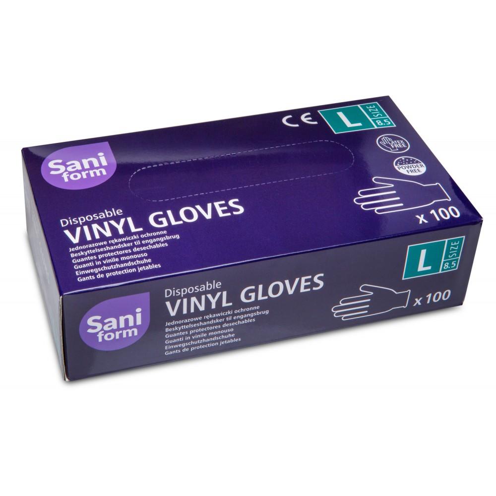Rękawiczki Winylowe Saniform Rozm. L...